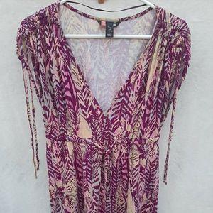 H & M multicolored Midi Dress Size 8